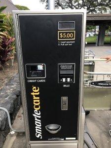 ハワイ島 コナ空港 カートを借りる 有料