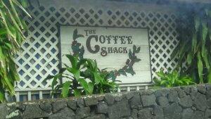 ハワイ島 The coffee shack 軽食を食べる