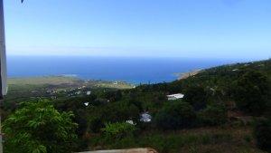 ハワイ島 The coffee shack 絶景 軽食を食べる