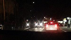 ハワイ島 夜のドライブ 19号線